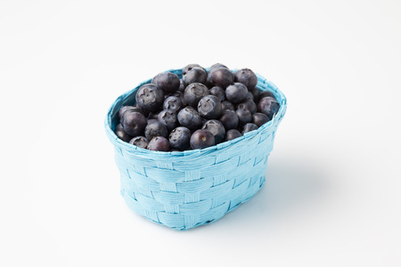 basket: Blueberries in basket