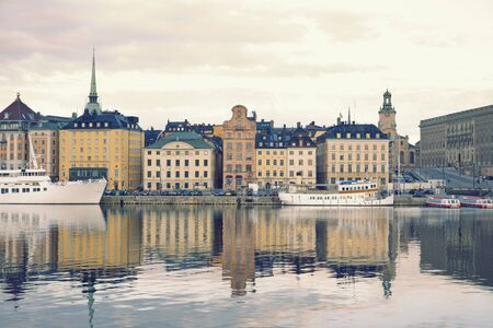gamla stan: view on Gamla Stan, the old town in Stockholm, Sweden