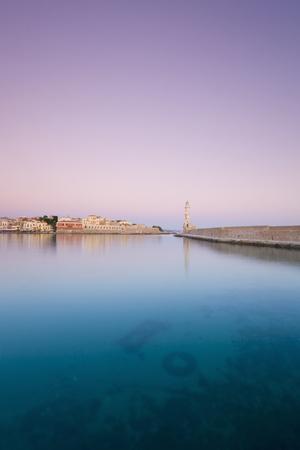 crete: venecean harbour in Chania, Crete, Greece