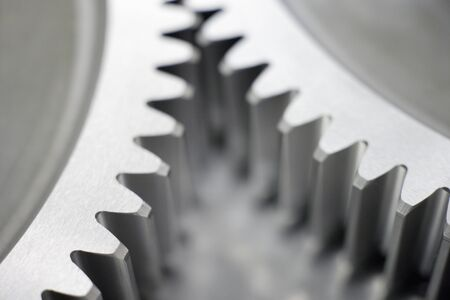 interlocked: Germany,Close up of part of two precision cog wheels