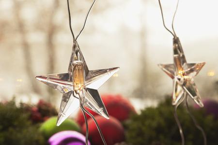 christmas time: Fairy lights, stars, christmas time