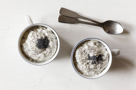 afters: Vegan poppy-seed mousse