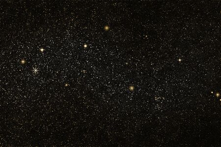 star field: Star field, golden and silver stars, space  Stock Photo