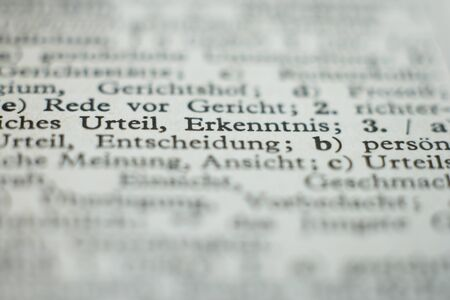 lexicon: Extreme close up of dictionary page