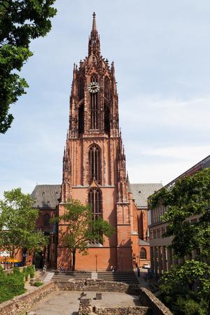 roemerberg: Germany,Hesse,Frankfurt,Roemerberg,View of Frankfurt catherdral