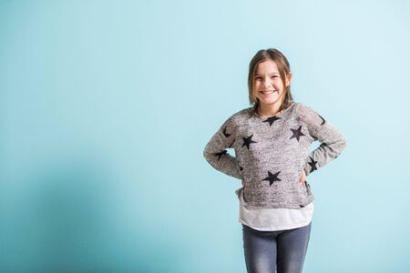 smiling teenagers: Happy young girl smiling happily Stock Photo