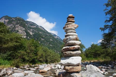 cairn: Switzerland, cairn Stock Photo