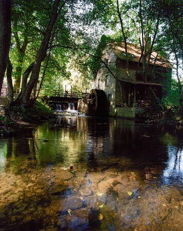 saxony: Germany,Lower Saxony,Wallenhorst,Watermill Stock Photo