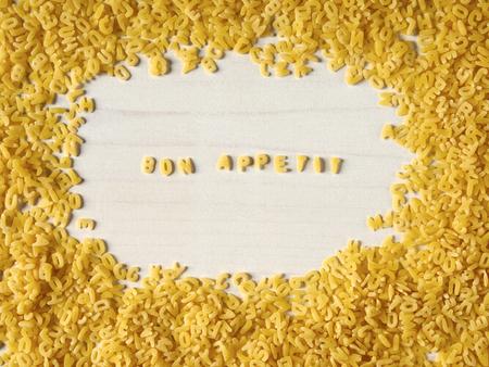 Alphabet noodles, Bon appetit