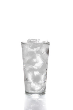 icecubes: Ice cubes and water in drinking glass