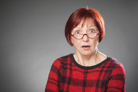 facial   expression: Red-haired woman, Portrait, Facial expression, amazed