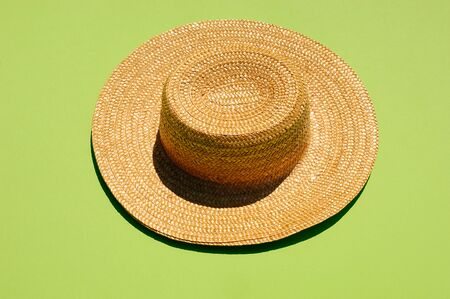 straw the hat: Straw hat, studio shot Stock Photo