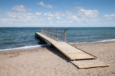 Germany, Baltic Sea, jetty, beach