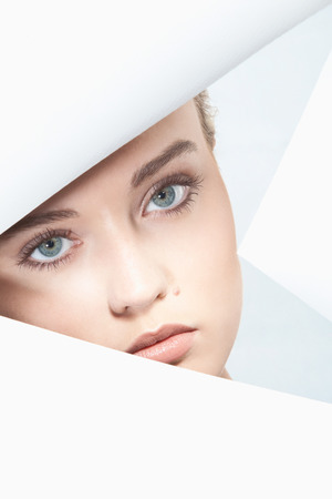beauty eyes: Close up of young,portrait Stock Photo