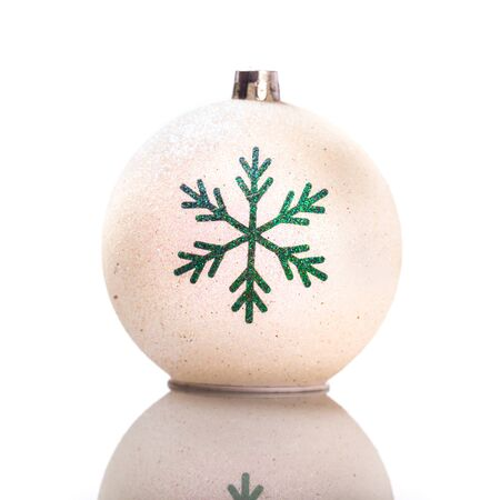 christmas ornamentation: Christmas bauble, decorative ornament, isolated on white background