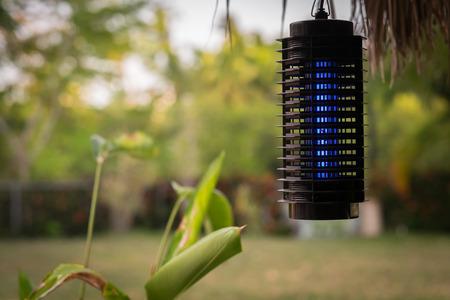 蚊トラップ、電気ザッパー 写真素材