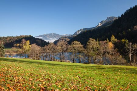 autumnally: Germany, Bavaria, Bad Reichenhall, Thumsee lake in autumn