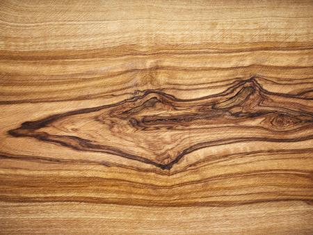 Houten achtergrond, olijfhout, houtnerf Stockfoto