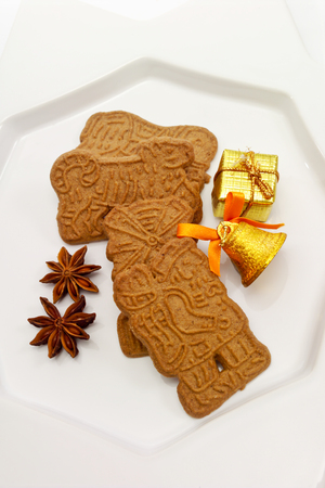 star anise christmas: Christmas biscuits, Almond biscuits, Star anise, golden present with bell