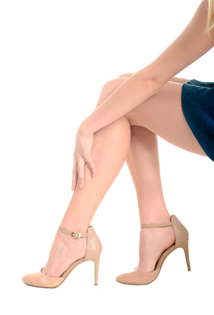 Legs and heels: Womans legs, high heels, pain in leg