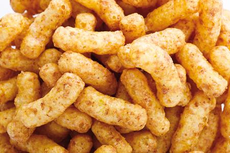 puffs: Peanut Puffs, full frame, close-up