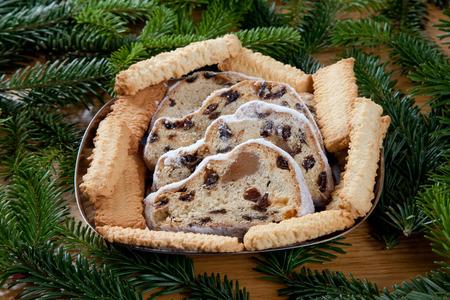 spritz: Christstollen and spritz cookies on plate