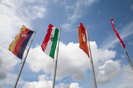 federal states: Flags of federal states, Lower Saxony, North-Rhine-Westphalia, Hamburg, Schleswig-Holstein