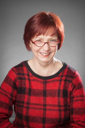 facial   expression: Red-haired woman, Portrait, Facial expression, smiling