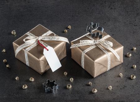 christmas gift: Christmas presents, gift tag, christmas decorations