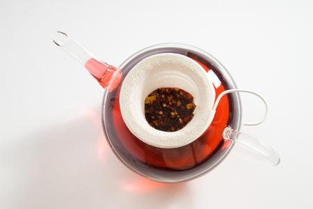 tea filter: Teapot with tea strainer, rose hip tea