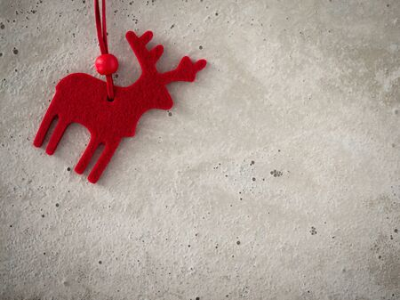 felt: Christmas decoration, deer of felt, concrete