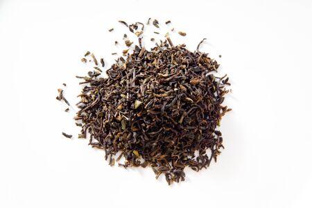 darjeeling: Darjeeling tea, white background