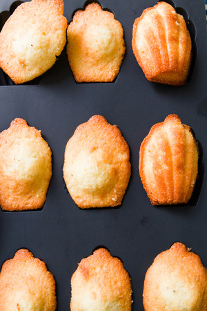 afters: Home made Madeleine cookies in baking dish