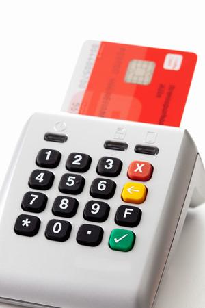 consuming: Credit card reader and chipcard, close up