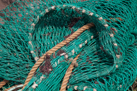 fishing net: Fishing net, close-up Stock Photo