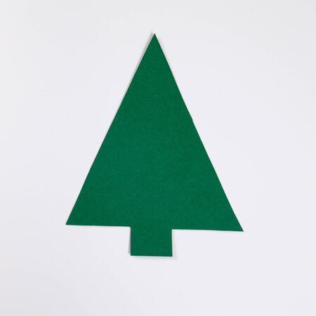 fir  tree: Fir tree, white background Stock Photo