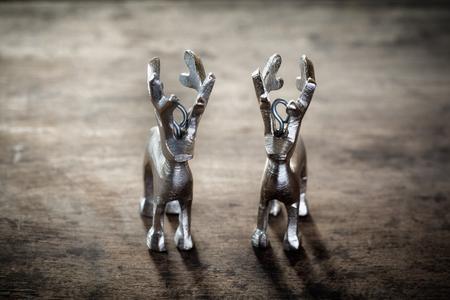 still lifes: Reindeers on wooden background