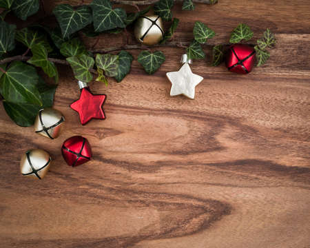 christmas ivy: Christmas, ivy, christmas decorations, stars and bells