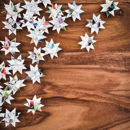 christmastime: Christmas, stars, Background wood, copy space