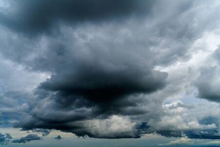 dark clouds: Germany, Bavaria, dark clouds in the evening