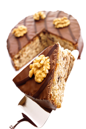 part of me: Walnut cake with chocolate coating