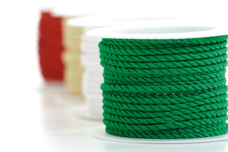 furled: Ornamental ribbons Stock Photo