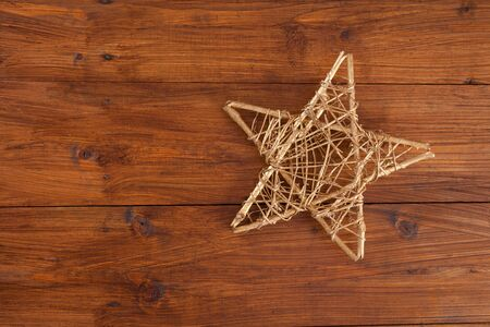 christmastime: Christmas decoration on wood, star