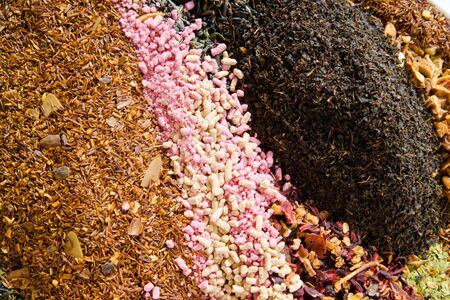 granules: Different types of tea, granules