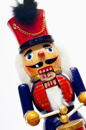 wood figurine: Nutcracker with euro coin