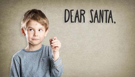 weihnachtsmann: Portrait, Junge, Stift, Weihnachten, Lieber Weihnachtsmann, Wunschliste