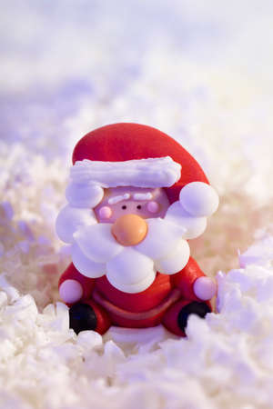 twee: Santa Cluas in artificial snow