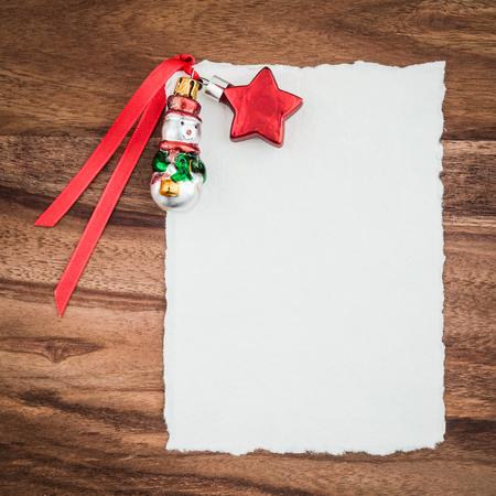christmas time: Christmas card, christmas decoration on wood Stock Photo