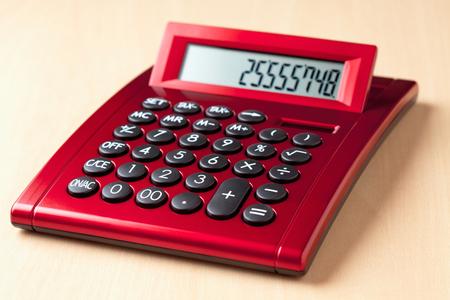 calculator chinese: Red calculator
