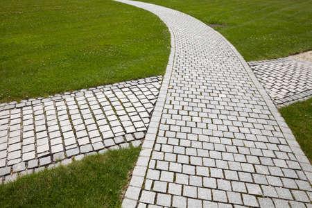cobblestone: Cobblestone, paved way, crossing